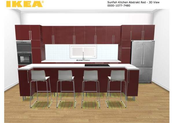 Ikea Abstrakt red kitchen design
